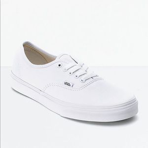 Vans white classic skate shoes